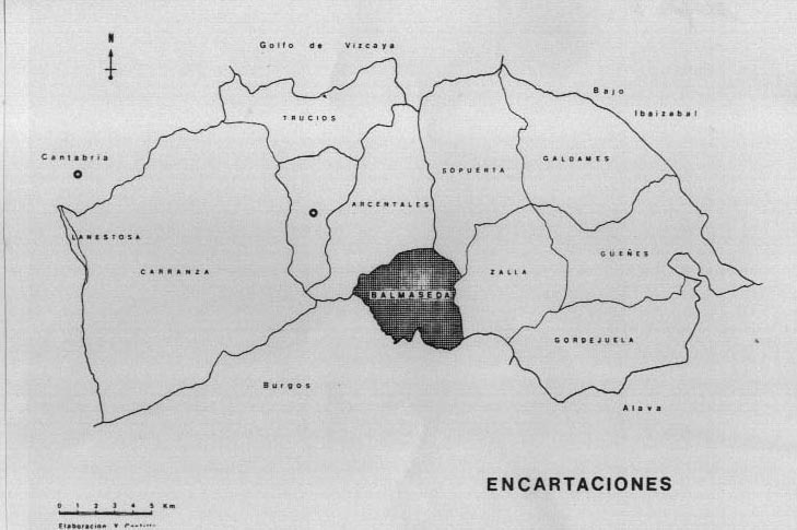 Mapa 8.1. Las Encartaciones